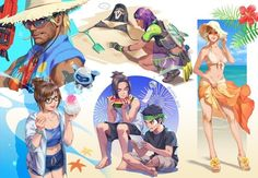Reaper in a bikini tho ; Overwatch Hanzo, Overwatch Reaper, Overwatch Comic, Overwatch Fan Art, Overwatch Drawings, Overwatch Wallpapers, Memes, Yandere, Girls