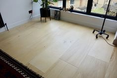 The Plywood Floor - How has it held up? 15 months later... Stained Plywood Floors, Plywood Flooring Diy, Plywood Interior, Basement Flooring, Painted Floors, Laminate Flooring, Plank Flooring, Bathroom Flooring, Concrete Countertops