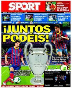 Los Titulares y Portadas de Noticias Destacadas Españolas del 18 de Septiembre de 2013 del Diario Sport ¿Que le pareció esta Portada de este Diario Español?