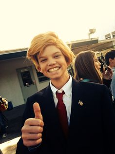 Donald Trump was at school