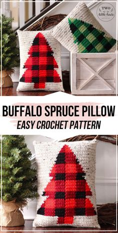 crochet The BUFFALO SPRUCE Pillow pattern - easy crochet pillow pattern for begi. : crochet The BUFFALO SPRUCE Pillow pattern – easy crochet pillow pattern for beginners Crochet Pillow Patterns Free, Christmas Crochet Patterns, Holiday Crochet, Crochet Gifts, Free Pattern, Crochet Christmas Blanket, Crochet Christmas Gifts, Modern Crochet Patterns, Afghan Patterns