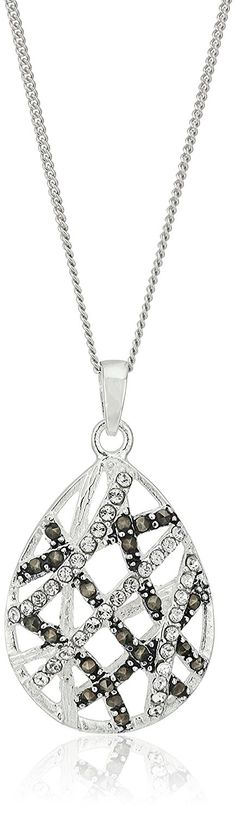 Sterling Silver Marcasite Crystal Cross Circle with Chain Pendant Necklace *** Find out more about the great product at the image link.