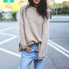 A cozy, chic sweater and the perfect pair of jeans are all you need for a great look.
