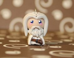 Gandalf Lord of the Rings Chibi Charm by KBelleC on Etsy, $10.00