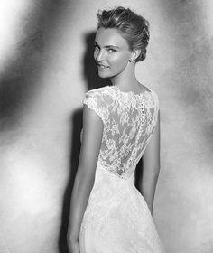 Pronovias > VITAL- Lace wedding dress with v-neck