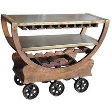 Whether you prefer cabernet or are more of a sauvignon blanc fan, you are sure to love the Yosemite Home Decor Wine Cart . This charming wine cart. Accent Furniture, Dining Furniture, Wine Cart, Beverage Cart, Rustic Wine Racks, Wine Bottle Rack, Metal Shelves, Wine Storage, Rustic Kitchen