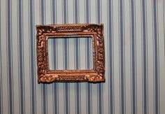 Items similar to Picture Frame, Distressed Copper, Scale on Etsy Hand Cast, Dollhouse Miniatures, Picture Frames, Copper, Pictures, Handmade, Etsy, Painting, Portrait Frames