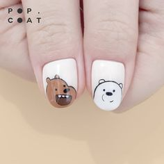 40 Simple Animal Nails Art Ideas in 2020 Cute Nail Art, Beautiful Nail Art, Cute Nails, Animal Nail Designs, Animal Nail Art, Stylish Nails, Trendy Nails, Gel Nails, Manicure