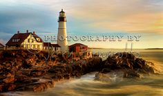 Portland Head Lighthouse, Maine.  This is a copyrighted photo. If you wish to purchase this photo or any other of my fine art prints, please visit my website at; http://jerryfornarotto.artistwebsites.com/featured/portland-head-lighthouse-at-dawn-jerry-fornarotto.html  Watermark will be removed.