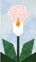 Paper-pieced flowers - Calla Lilly and Poppy