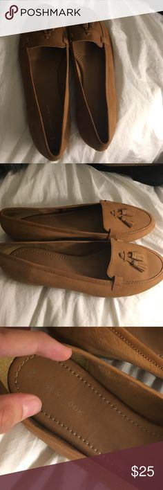 Women's tan Asos New Look Loafers Super cute and comfy tan loafers from New Look. Loved these, but they were too big! Never actually worn. New Look Shoes Flats & Loafers
