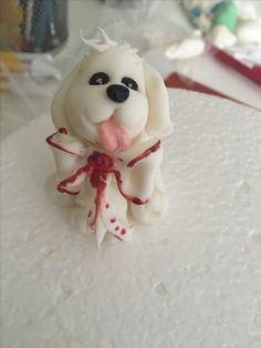 Dog cake topper  Sugar paste figurine