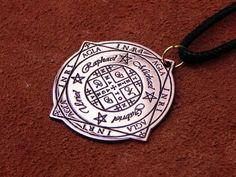 Seal Wheel of Fortune (AGLA) and protection of the archangels 4 (Michael, Uriel, Raphael, Gabriel) Wiccan Jewelry, Occult Art, Wheel Of Fortune, Pentacle, Gabriel, Seal, Handmade Items, Pendant, Amulets