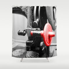 Sewing Machine Shower Curtain by Angelika Kimmig - $68.00