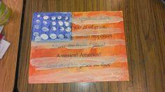 3rd grade art masterpiece inspired Jasper Johns lesson.