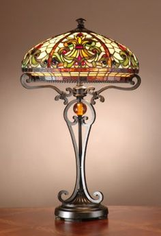 Dale Tiffany Boheme Boheme Tiffany Table Lamp with Antique Golden Sand Finish Antique Golden Sand