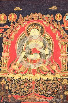 Thangka is a Tibetan Buddhist painting Chinese, painting is the Buddha. Hanging in the believers house.