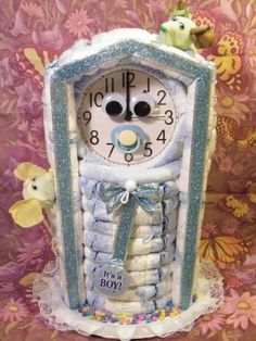 Baby shower clock