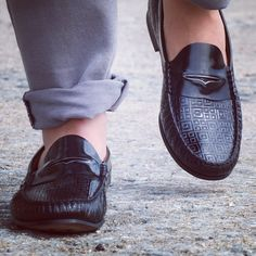 Walking with Class..! #designer #shoes #loafers #mensfashion