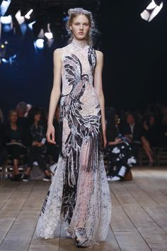 Alexander McQueen Spring Summer 2016...Pretty. Imagine this in your wedding colors.