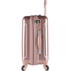 Sporting a contemporary look, the Kensie Metallic Expandable Carry On Spinner Suitcase is the perfect choice for your next adventure. The ABS shell makes it lightweight and its 4 spinner wheels and a retractable pull handle make it super-easy to maneuver. Luggage Sets Cute, Best Carry On Luggage, Travel Luggage, Travel Bags, Hardside Luggage Sets, Spinner Suitcase, Pack Your Bags, Travel Accessories, Cleaning Wipes