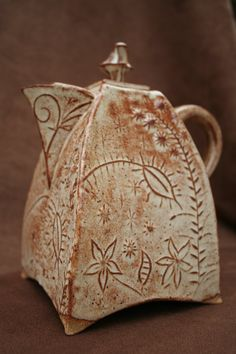 Ceramic Pottery Teapot Set