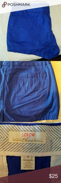 """3"""" Chino shorts Like new only worn once or twice.  Royal blue Chino shorts.  3"""" inseem J. Crew Shorts"""