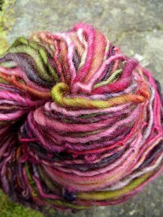 Handspun yarn handpainted yarn Falkland wool worsted by Yarnarchy, $20.00