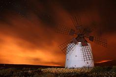 Windmill on fire by Juan Antonio Santana