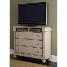 Liberty Furniture Rustic Traditions Media Chest - Rustic White - 689-BR45