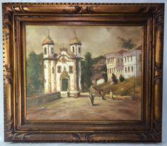 Paulo Marinho - Igreja do Pilar, Ouro Preto. 1990. Óleo sobre tela, assinado no C.I.E. e no verso. I