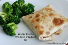 THM (S) Cream Cheese Chicken Bundles - really versatile recipe that I know the kids would love