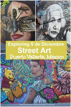 Exploring Puerto Vallarta's Colonia 5 de Deciembre neighbourhood and its amazing street art #streetart #PuertoVallarta Puerto Vallarta, Vallarta Mexico, Travel Ideas, Travel Inspiration, Travel Tips, Us Travel Destinations, Amazing Destinations, Mexico Vacation, Mexico Travel