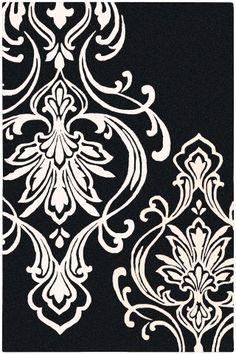 Candice Olson Modern Classics CAN-1951 Coal Black Designer Rug