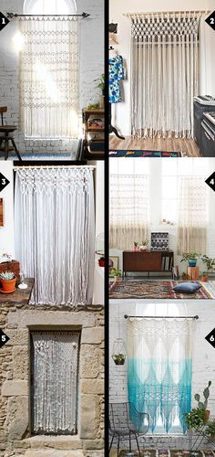 Dreaming of... a macrame curtain  Great #macrame #curtain! if you like macrame. Please vist my shop MacrameLoveJewelry.etsy.com