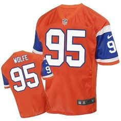 Nike Broncos  95 Derek Wolfe Orange Throwback Men s Stitched NFL Elite  Jersey And  Eric 80ce81676