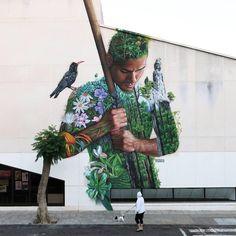 Sabotaje al Montaje. La naturaleza del Aborigen Tanausú, casa de la cultura del Paso La Palma, Islas Canarias.