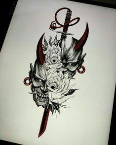 Viking Tattoos, Warrior Tattoos, Samurai Tattoo Design, Japanese Tattoo Designs, Tattoos For Guys, Japan Tattoo Design, Sleeve Tattoos, Leg Tattoos, Tattoo Designs