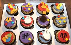 Harry Potter cupcakes from The Sweet Side Cupcakery.  www.lifeinthesweetlane.com