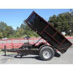 New 5x8 hydraulic dump roofing dirt mulch rock equipment trailer | 5x8dump | $2,199.00