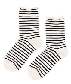 Hansel from Basel - Nautical Stripe Crew Socks, available at LCD