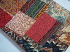 Indian Kantha Quilt.  wonderful Bedroom Bedding