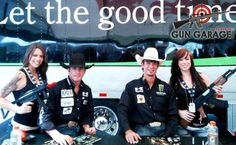 Shane Proctor and JB Mauney posed with our Gun Girls, just one day before JB was announced as the World's Number 1 Bull-Rider at PBR 2013!