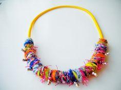 boho statement necklace funky necklace trendy necklace by JIAKUMA
