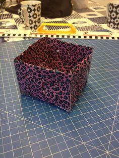 #Workshop mandjes maken van #duct tape! Het resultaat.