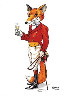 """21st Century Fox"" funny greeting card of fox dressed in hunting attire. Iconic cartoon image by Bryn Parry. Large A5 size, blank on the inside, cellophane wrapped with envelope. Bryn Parry http://www.amazon.co.uk/dp/B00OBS3NY2/ref=cm_sw_r_pi_dp_qxRrub1QXBC4E"
