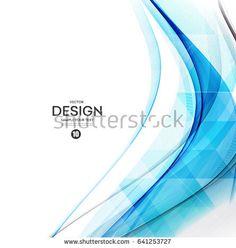 Abstract vector background, blue waved lines for brochure, website, flyer design. Transparent water wave. Science or technology design