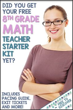 If you teach 8th grade math, you're going to want to get your hands on this 8th Grade Math Teacher Starter Kit by Free to Discover. Free when you subscribe, this extensive resource includes a pacing guide, exit tickets, standards alignment and more! Whether you're a first year teacher, changing grade levels or a veteran teacher, you will find this most definitely find this useful. You'll have your hands full with your eighth grade students this year so start the year off right with this…