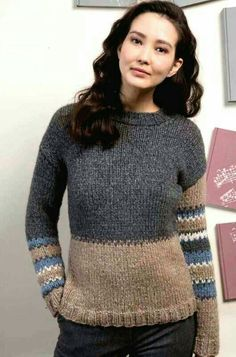 Discover recipes, home ideas, style inspiration and other ideas to try. Crochet Stitches Patterns, Sweater Knitting Patterns, Knitting Designs, Baby Knitting, Fair Isle Knitting, Knit Fashion, Pulls, Ravelry, Knitwear