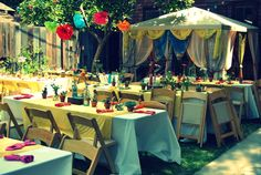 bohemian party ideas | They even built a hippy hut for the party!! I had a moment of wanting ...